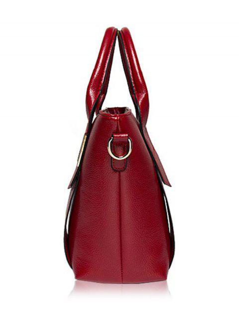 buy Textured PU Leather Handbag Set -   Mobile