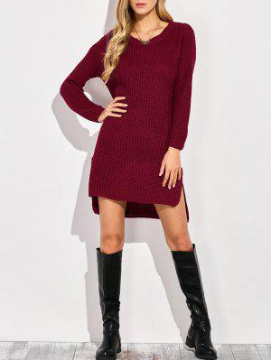 High-Low Knitting Dress