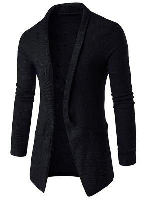 Cardigan long poches