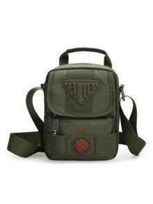حقيبة طويلة التمر نايلون بالجسم بسحاب - الجيش الأخضر