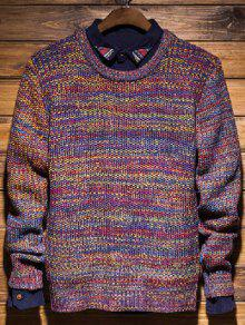 Knit Del Suéter De Cuello Redondo Pullover - Xl