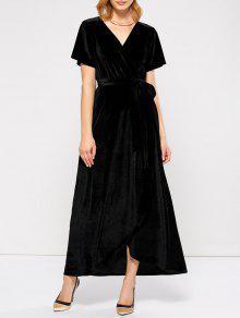 Envolver El Vestido Maxi Asimétrica - Negro L