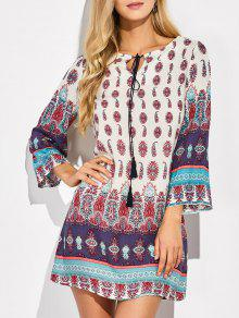 Retro Print Tunic Dress - Xl