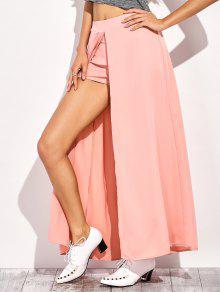 Pantalones Cortos De La Falda Maxi - Rosa 2xl