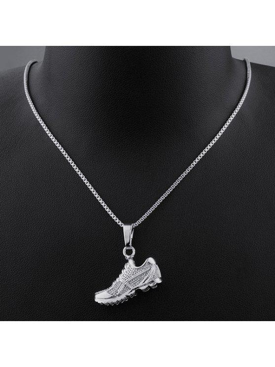 أحذية رياضية شكل الزركون قلادة قلادة - فضة