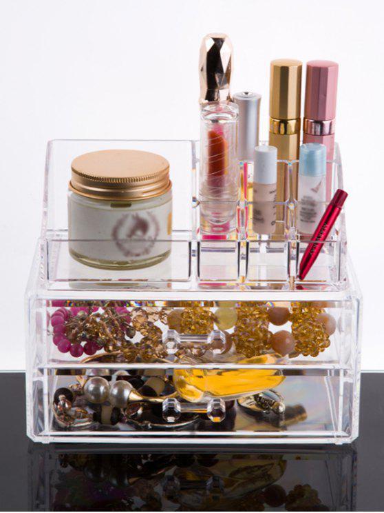Maquillaje organizador del cajón - Transparente