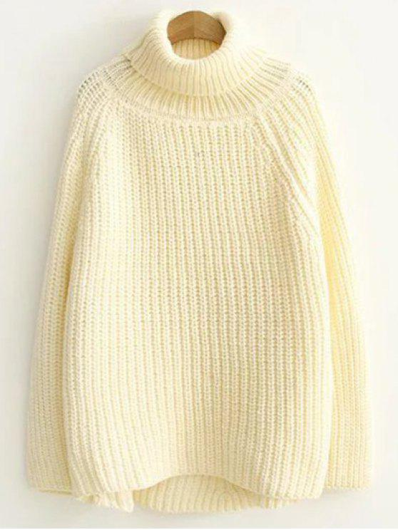Turtleneck Chunky Pullover Sweater OFF-WHITE: Sweaters ONE SIZE ...