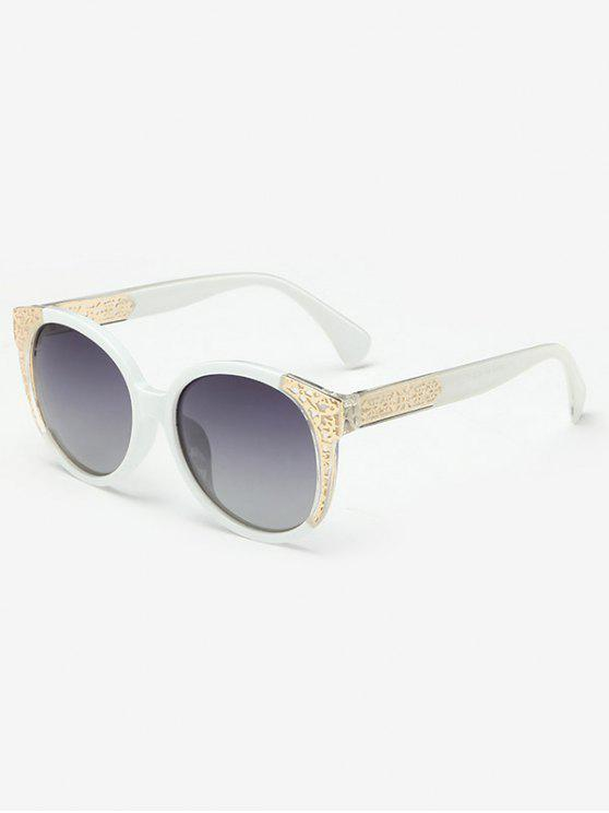 bac6f67ee2d Two Tone Ombre Sunglasses WHITE  Sunglasses