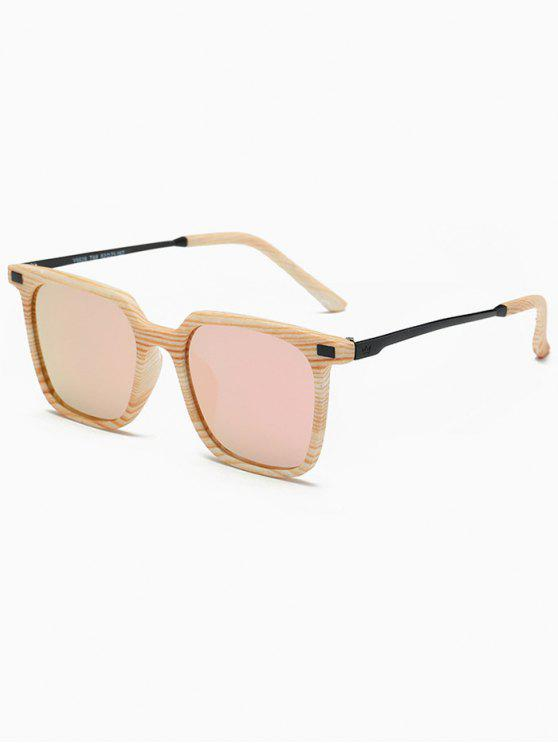 outfit Square Mirrored Sunglasses - PINK