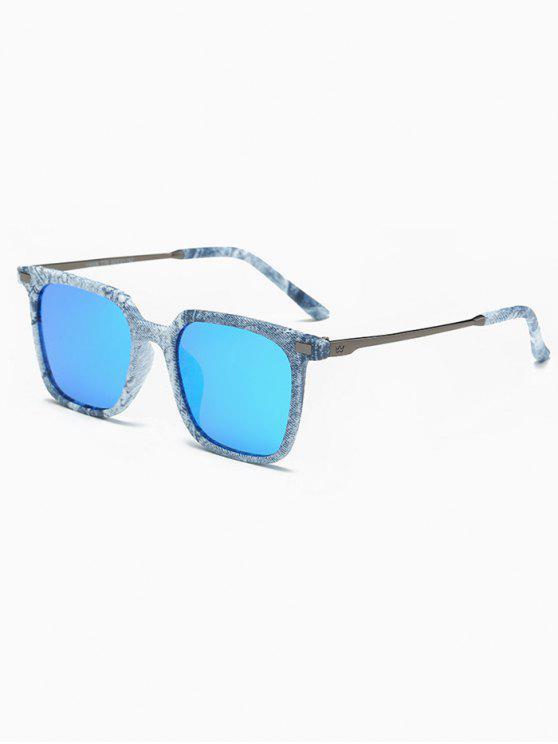 26b496eef 24% OFF] 2019 Óculos De Sol Quadrado Espelhado Com Azul Denim ...