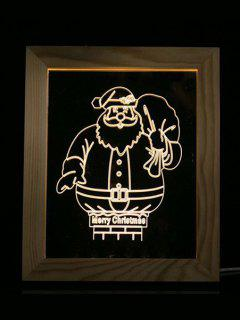 Merry Christmas Photo Frame LED Night Light - Transparent