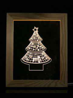 Christmas Tree Photo Frame LED Night Light - Transparent