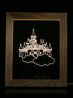 Christmas Castle Photo Frame LED Night Light - Transparent