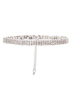 Collier Strass En Alliage - Blanc