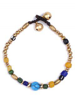 Natural Stone Braid Beads Bracelet - Golden
