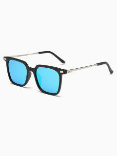 Square Mirrored Sunglasses - Blue