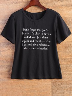 Carta De Ajuste De La Camiseta - Negro S