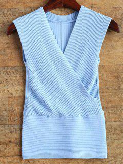 Chaleco Del Suéter Del Abrigo - Azul
