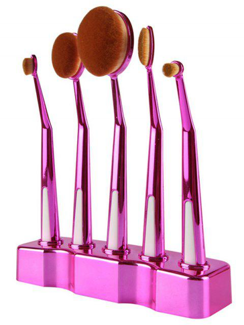 ladies 5 Pcs Nylon Oval Toothbrush Makeup Brushes Set with Brush Stand - TUTTI FRUTTI  Mobile