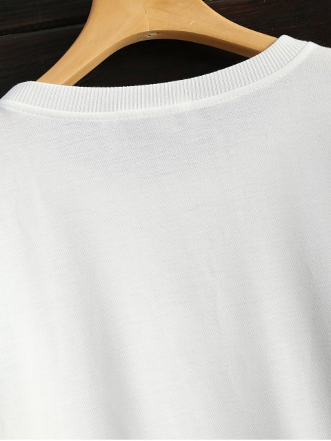 latest Icecream Cone Print Sweatshirt - WHITE S Mobile