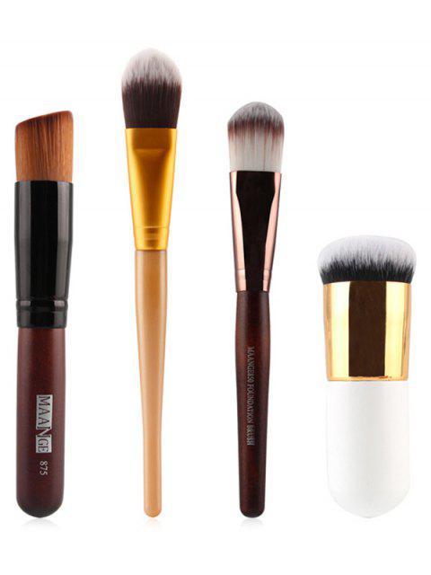 affordable 7 Pcs Nylon Face Makeup Brushes Set - BLACK  Mobile