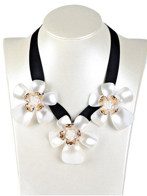 outfit Floral Faux Gem Necklace -   Mobile