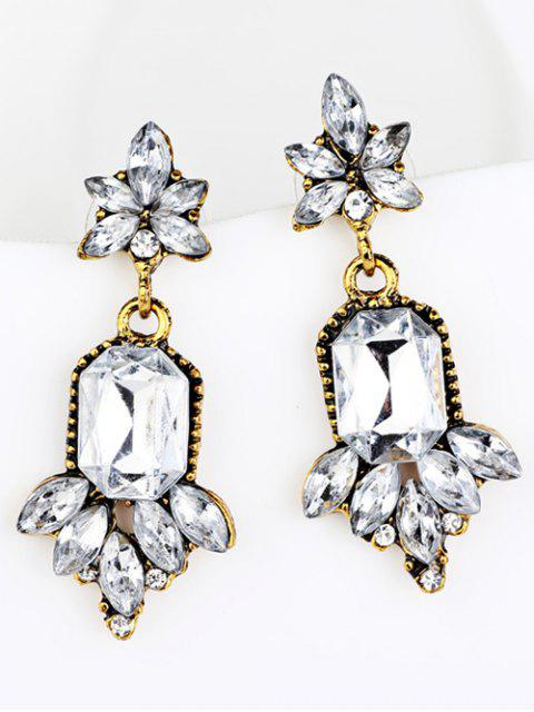 affordable Faux Crystal Chandelier Floral Drop Earrings -   Mobile