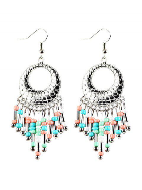 new Beads Tassel Snakeskin Circle Drop Earrings -   Mobile