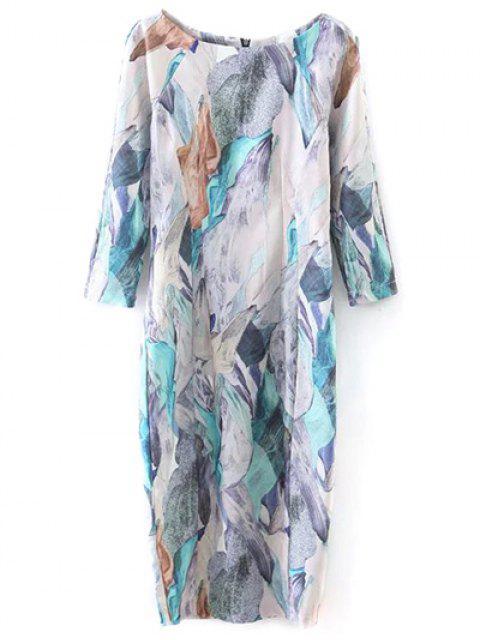 outfit Printed Midi Sheath Dress - MULTICOLOR L Mobile