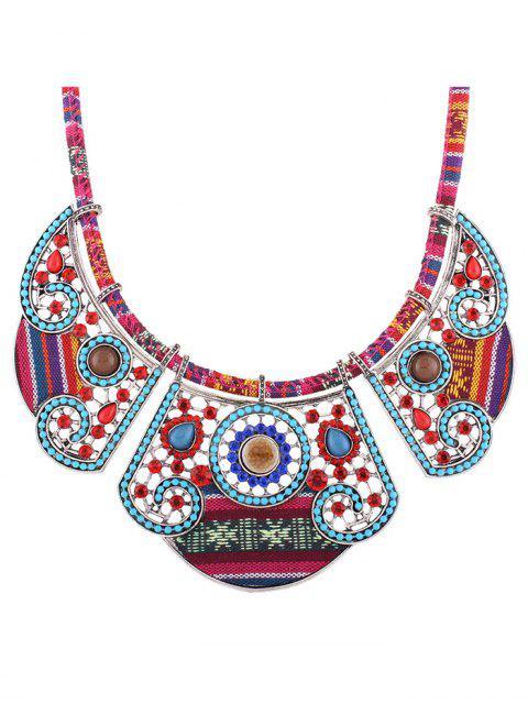 women's Rhinestone Blossom Faux Collar Necklace - SILVER  Mobile