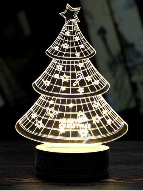 fashion Christmas 3D LED Sleeping Tree Night Light -   Mobile