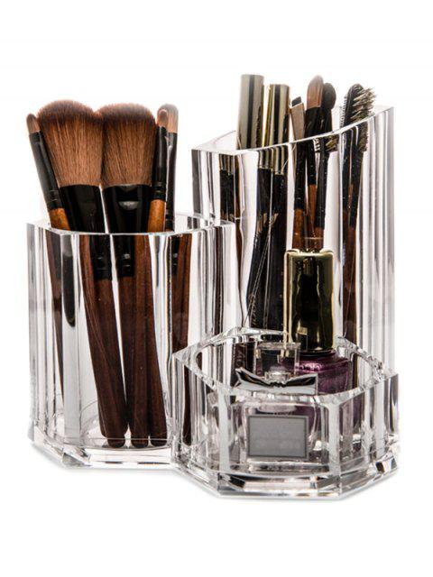 Brush Holder Makeup Organizer - Transparent  Mobile