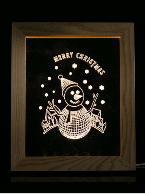 best Merry Christmas Snowman Photo Frame LED Light - TRANSPARENT  Mobile