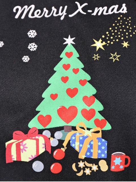 buy Merry Christmas Front Pocket Hoodie - BLACK M Mobile