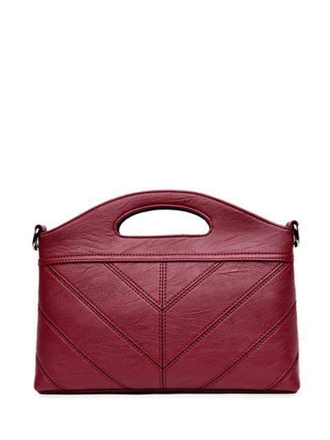 women's Stitching PU Leather Handbag -   Mobile