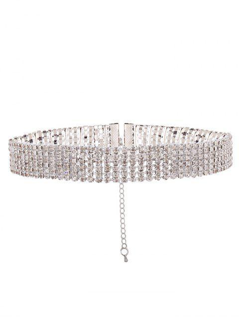 shops Adorn Rhinestone Necklace - WHITE  Mobile