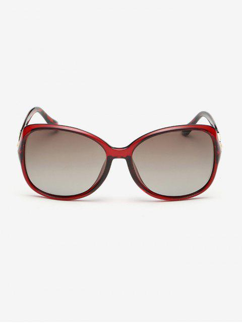 trendy Ombre Butterfly Sunglasses - RED  Mobile