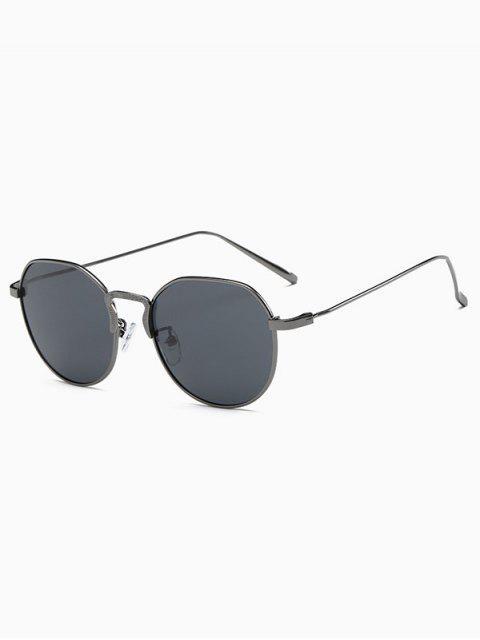affordable Metal Frame Pilot Sunglasses - GUN METAL  Mobile
