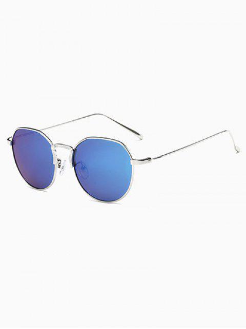 women's Pilot Mirrored Sunglasses - BLUE  Mobile