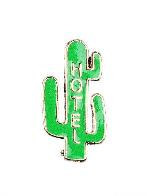 trendy Cactus Hotel Coconut Tree Brooch Set - GREEN  Mobile
