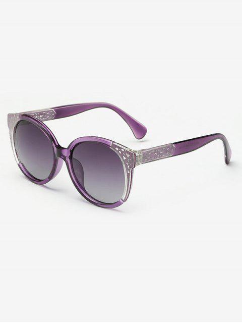 lady Two Tone Ombre Sunglasses - PURPLE  Mobile