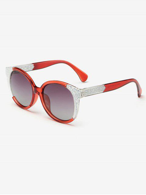 best Two Tone Ombre Sunglasses - RED  Mobile
