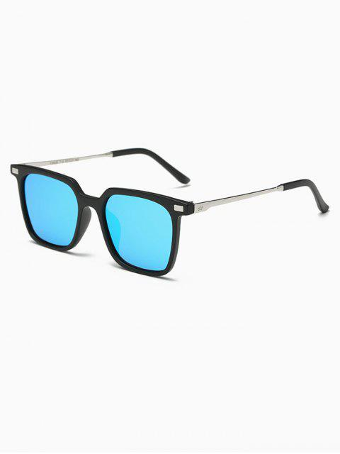 shop Square Mirrored Sunglasses - BLUE  Mobile