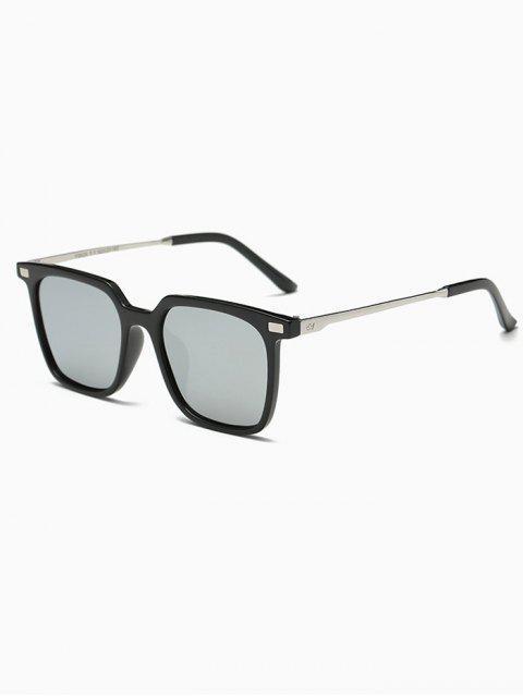 shops Square Mirrored Sunglasses - SILVER  Mobile