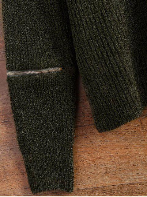 ladies Choker Oversized Sweater - ARMY GREEN ONE SIZE Mobile