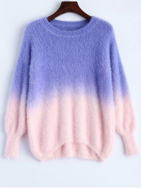 new Ombre High-Low Sweater - PURPLE ONE SIZE Mobile