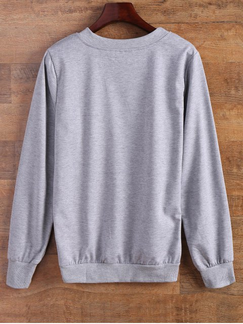 womens Sported Letter Sweatshirt - GRAY S Mobile