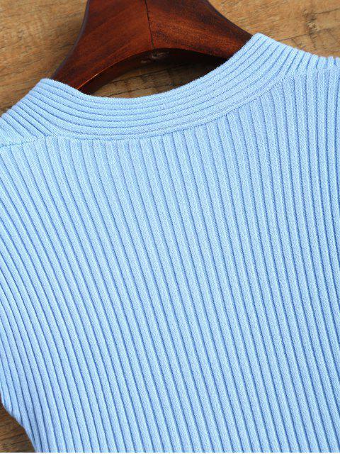 unique Vest Wrap Sweater - BLUE ONE SIZE Mobile