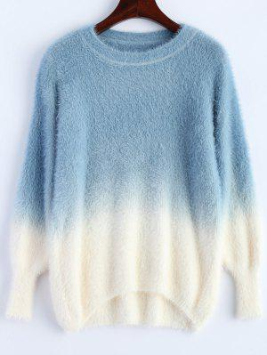 Ombre High-Low Sweater - Blue