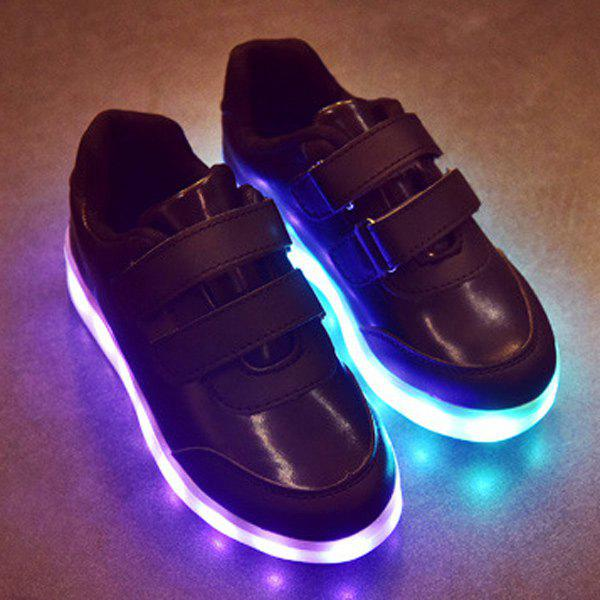PU cuir Lumières LED lumineuses Up Chaussures